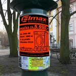 Plakáty (černý tisk na fluorescentní papír)